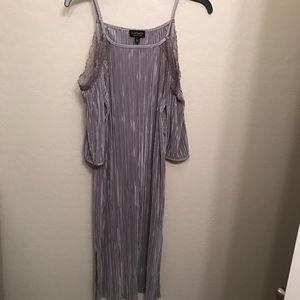 Topshop silver/gray silk dress